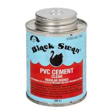BLACK SWAN PVC CEMENT CLEAR HEAVY BODIED 1/2 PINT