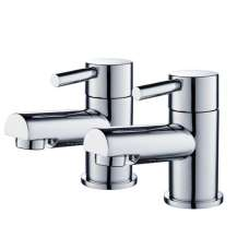 HARROW BASIN TAPS CHROME PAIR 9094