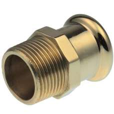 "15mm X 1/2"" Pressfit Gas Male Iron Coupler"