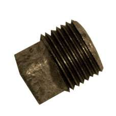 Malleable Black Hollow Plug 1/2""
