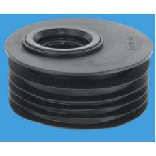 """4""""/110mm Drain Connector with Offset Sealing Ring - 1¼ & 1½"""" inlet"""