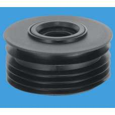 "DC3-BL - Drain Connector 4""/110mm x 2"" - Black"
