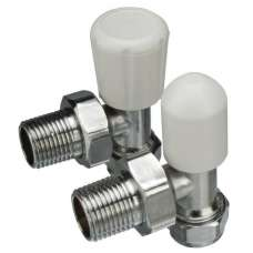 "Angle Rad Valve 8mm X 1/2"" (3/4"" Nut)"