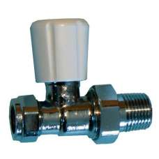 "Straight Rad Valve 15mm X 1/2"" (3/4"" Nut)"