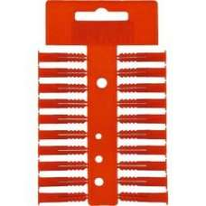 Red Wall Plugs Per Strip Of 20