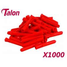 Talon Red Plugs (box 1000)