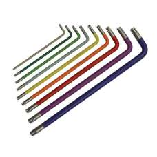Faithfull Hex Key Set 9pc Coloured