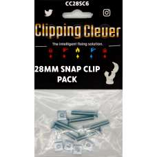 Clipping Clever Snap Clip Pack 28mm - Pack of 6