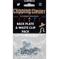 Clipping Clever Back Plate & Waste Clip - Pack of 12