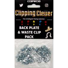 Clipping Clever Back Plate & Waste Clip - Pack of 50