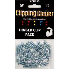 Clipping Clever Hinged Clip 15 22 28MM - Pack of 50