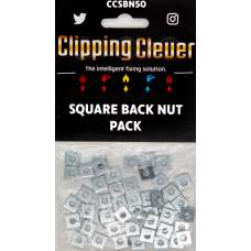 Clipping Clever Square Back Nut - Pack of 50