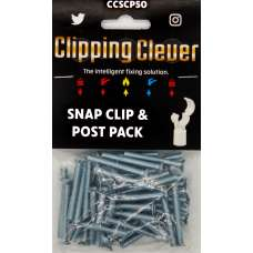 Clipping Clever Snap Clip & Post Pack 15-22mm - Pack of 50